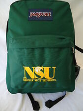 JANSPORT Superbreak Backpack NSU Norfolk State University Logo College Bag Green