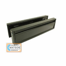 "12"" Anti-Vandal UPVC Door Letter Plate Letter Box BLACK"