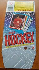 Topps Hockey empty box  1989 Joe Mullen / Kevin Dineen / Dave Gagner
