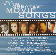 ALL TIME GREATEST MOVIE SONGS POSTER - Celine Dion,Billy Joel,Will Smith,Estefan