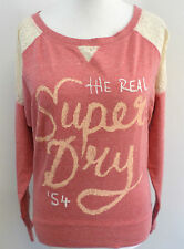 Superdry Lace Burnout top Pink Small rrp £44.99 box7488 D