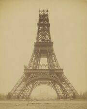EIFFEL TOWER UNDER CONSTRUCTION PARIS FRANCE 8X10 PHOTO 1888