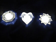 IKEA 3/Set Desk Table Lighting Decorative Glowing Light Prism Frosted Lamp NEW