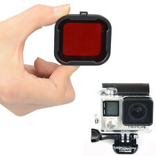 Red Underwater Diving Lens Resin Filter Converter Protector for GoPro Hero 3+/4