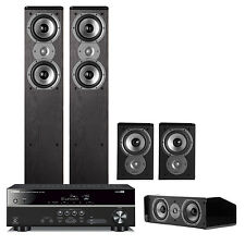 Yamaha RXV381 5.1-Channel Receiver w/ Polk 5.0 Home Theater Speaker Bundle