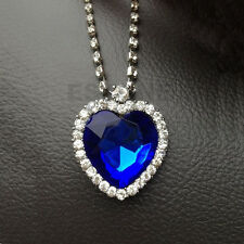 Blue Beauty Pendant Heart Of The Ocean Necklace Valentine Gifts For Lover Gift