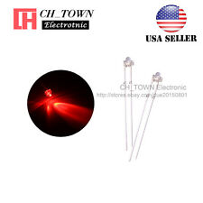 100pcs 1.8mm Transparent Water Clear Red Light LED Diodes High Quality