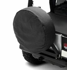 "Jeep CJ Wrangler YJ TJ JK Spare Tire Cover Black Denim 33-35"" Smittybilt 773515"