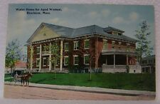 VINTAGE OLD BROCKTON MASSACHUSETTS WALES HOME AGED WOMEN HORSE BUGGY PC POSTCARD