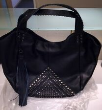 Isabella Fiore Black Studded Bellmore Large Tote Purse