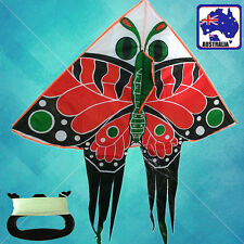 Red Butterfly Delta Kite 130x158cm Line Included Kites OKITE7701+OKLIN2040