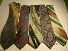 lot of 5 vintage mens designer Neck Ties  Croft & Barrow Huxley Gitano Sears #22
