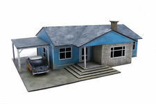 Retro Americana Residential Ranch Style House – Car Port LHS 28mm Laser Cut M...