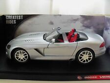 HOT WHEELS - HALL OF FAME - DODGE VIPER SRT-10 (SILVER) - 1/18 DIECAST