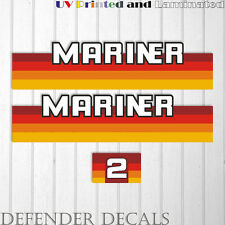 Mariner 2 hp outboard engine decal sticker set kit reproduction 2HP