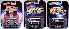 3 Hot Wheels Retro Entertainment Back to the Future Time Machine Mr Fusion Hover