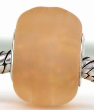 PEACH FROST sterling silver Spring european charm lampwork murano glass bead MWR