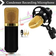 Condenser Sound Recording Microphone with Shock Mount for Radio Braodcasting