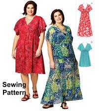Kwik Sew K3868 patrón Para Mujer Talla Plus Vestidos 1x-4x millones de EUR