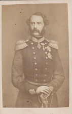 Photo cdv : Le Roi Christian IX du Danemark , vers 1865