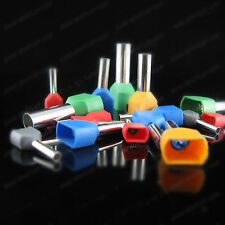 1000pcs 22 AWG 0.5mm² Pre-Insulated Terminals Wire Ferrules End Sleeve TE0508