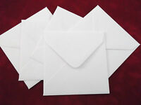 50 x 140mm 14cm Square White Envelopes