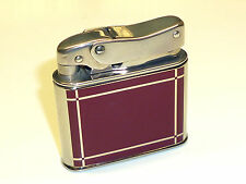 "MYLFLAM ""BOB"" POCKET LIGHTER W. RED-BROWN LACQUER - BOTH SIDES - 1953 - GERMANY"