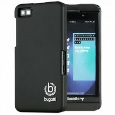 Bugatti ClipOn Cover Hard Plastic Case Black Silk Matte Blackberry Z10 Snap on Z