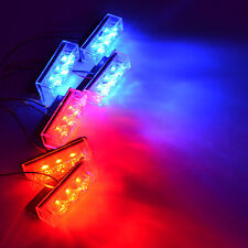 18 LED Car Police Strobe Flash Emergency Grill Light 3 Flashing Modes Blue&Red
