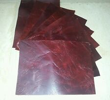 Red Vintage Aged Real Leather offcuts You get 8 pieces  16cm x 11cm 1.5mm thick