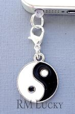 Yin Yang sign cell phone Charm Anti Dust proof Plug ear Cap jack For iPhone C187