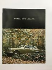 1976 Rolls Royce Camargue Pininfarina Original Car Sales Brochure Folder