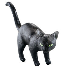 "ANIMALS & NATURE #BLACK CAT HALLOWEEN PROP 9"" RUBBER FANCY DRESS DECORATION"