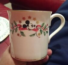 """LENOX HOLIDAY DISNEY dimension 2 ACCENT MUGS - 3 1/2"""" MICKEY MOUSE - PERFECT! R4"""