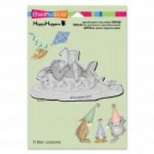 HOUSE MOUSE RUBBER STAMPS CLING HAPPY HOPPERS INNER TUBE NAP NEW cling STAMP