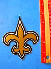 NEW ORLEANS Gold Fleur des Les ~ Saints NFL Football STICKER ~ Lily Flower Decal