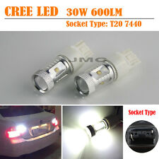 2Pcs 30W 720LM CREE White T20 7440 Car Led Backup Reverse Turn Signal Light