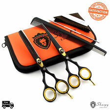 "New Barber Pro Salon Hairdressing Scissors Thinning Hair Cutting Shears 6"" Set"