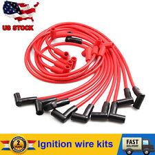 8mm Spark Plug Wire Set Kit Fit Super Stock Color Red V8 5.7L 5.0L  Performance