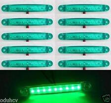 10x 9 luces LED VERDE 12V Lateral Delantero Luces De Marcaje
