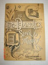 DANGLER STOVE & MANUFACTURING CO. Cleveland, OH 1891 Catalog Gas Stoves L@@K