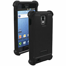 Ballistic Shell Gel Series Fitted Case for Samsung Infuse 4G SGH-i997- Black