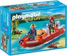 Playmobil Inflatable Boat with Explorers 5559- Floats on Water