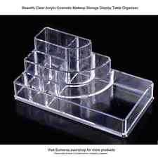 Clear Acrylic 8 Section Cosmetic Makeup Display Storage Table Organiser