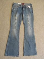 New Women's Superdry Denim Ripped/Distressed Blue Jeans Freedom Flare Size 28