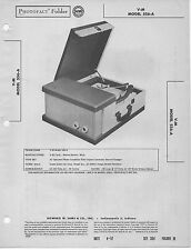 1957 V-M 556-A PHONOGRAPH SERVICE MANUAL PHOTOFACT SCHEMATIC RECORD PLAYER FIX