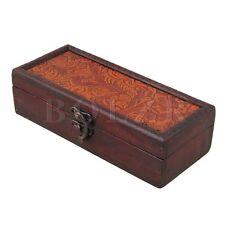 19x8x5.3cm Vintage Wooden Keepsake Box Storage Organizer Wood Case