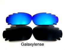 Galaxy Replacement Lenses For Oakley Jawbone Black&Ice Blue Polarized 2 Pairs