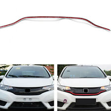 For Honda Fit/Jazz 2014-2016 Front Grill Grilles ABS Red Trim Strip