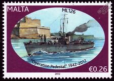 HMS ML126 Fairmile B Motor Launch Warship WWII Malta Convoys Stamp